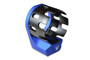 AR Enhanced Castle Nut & Extended End Plate - Blue (Blemished)