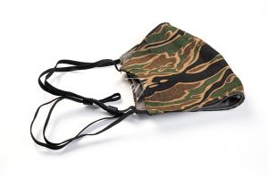 Mask Sleeve/Covering with Pocket - Tiger Stripe Camouflage Head Loop