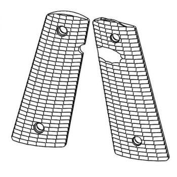1911 PX™-12 Standard Size - Pistol Grips (Streamlined Pattern, Semi-Gloss Black)