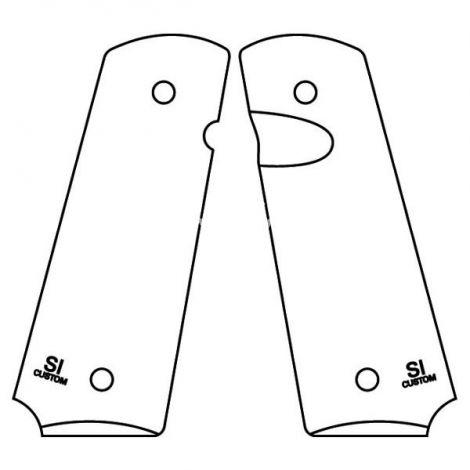 1911 PX™-15 Slim Size -  Pistol Grips (Non-textured, Semi-Gloss Black)