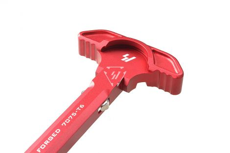 Strike Latchless Charging Handle for .223/5.56 - Red (Blemished)
