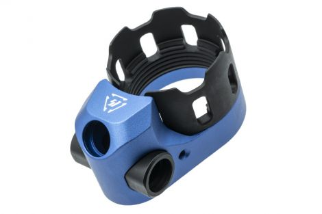 Tribus Enhanced Castle Nut & Extended End Plate Version 2 - Blue (Blemished)
