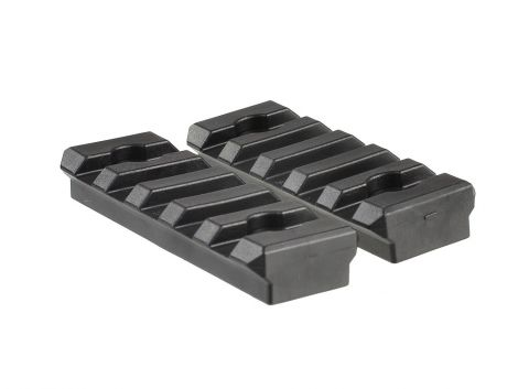2pcs Polymer 5 Slot KeyMod Short Rail Section