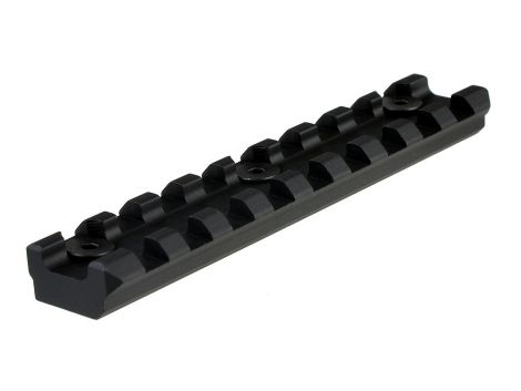 Aluminum 9 Slot KeyMod Long Rail Section for 45 degree panel