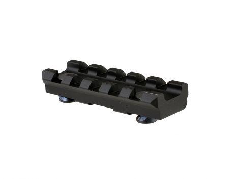 Aluminum 5 Slot KeyMod Short Rail Section for 45 degree panel