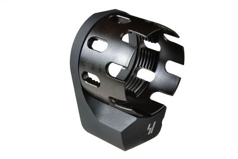 AR Enhanced Castle Nut & Extended End Plate - Black (Blemished)