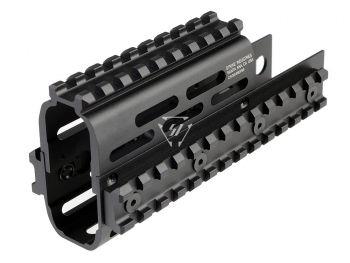 AK Modular / KeyMod Handguard Rail-TRAX 1 - Black