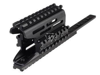 AK Modular / KeyMod Handguard Rail-TRAX 2 - Black