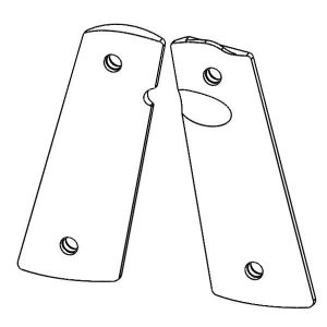1911 PX™-07 Standard Size - Pistol Grips (Non-texture, Semi-Gloss Black)